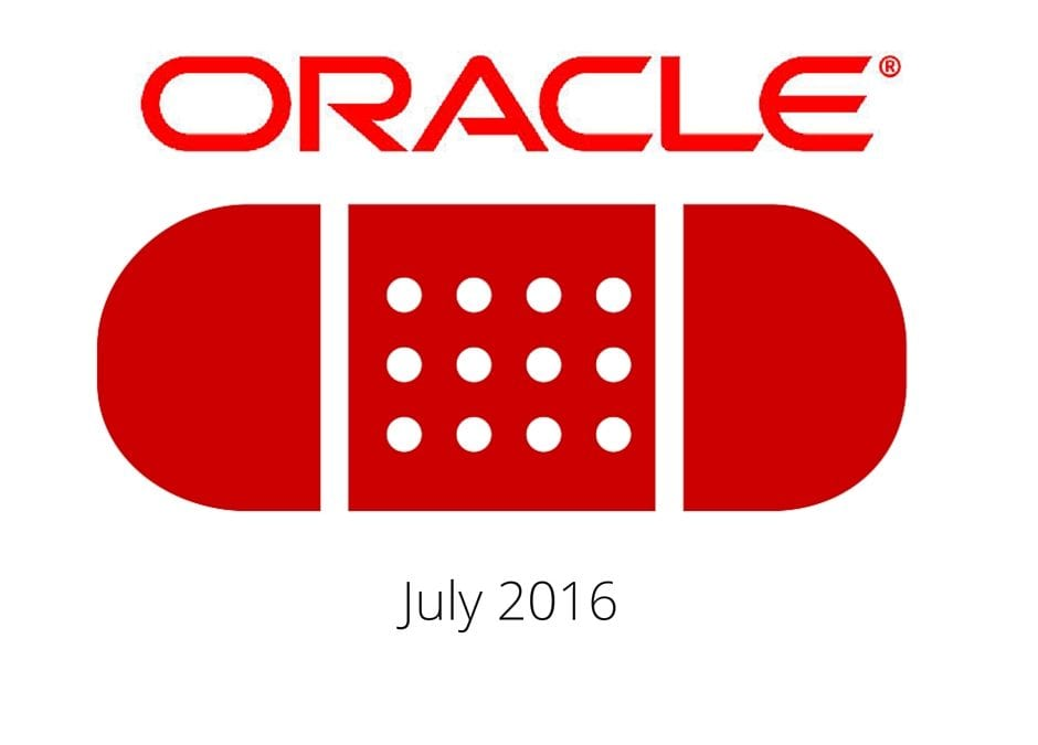 Oracle Patch Update July 2016