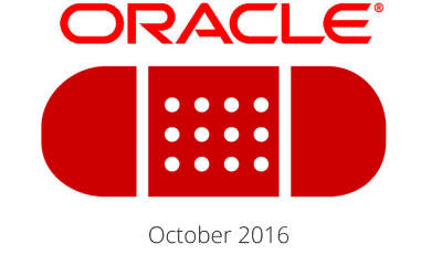 Oracle Patch Update October 2016