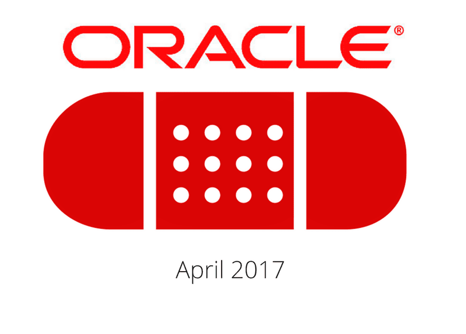 Oracle Patch Update April 17