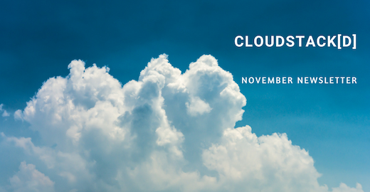 CloudStack[d] November Newsletter