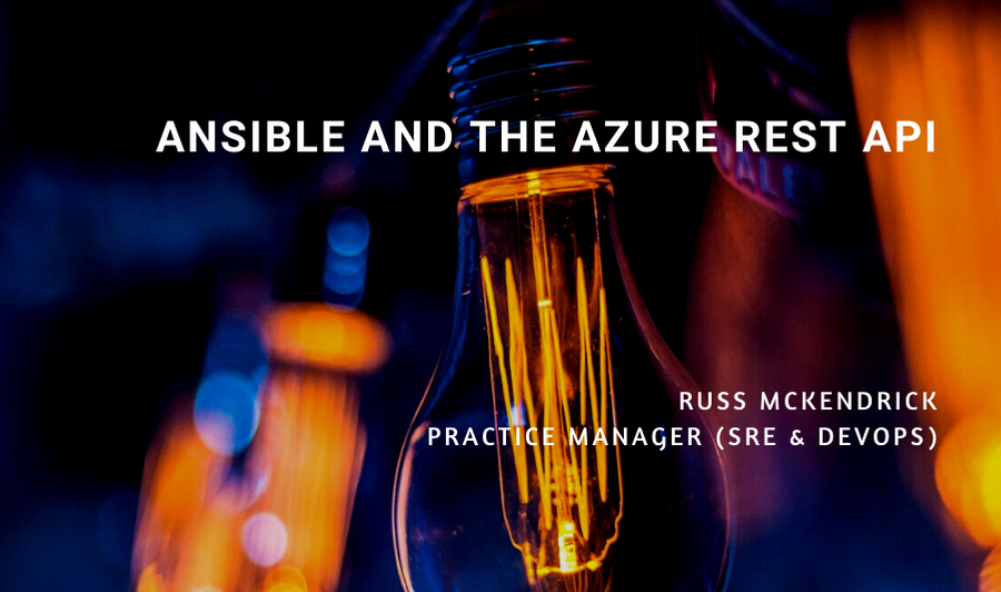 Ansible and the Azure REST API