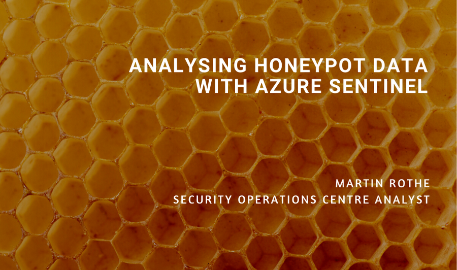 Analysing Honeypot Data with Sentinel